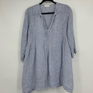 CP Shades blouse tunic linen stripes nautical